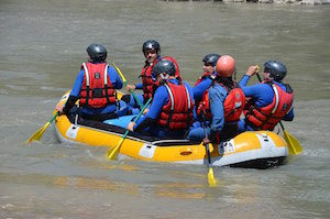 Team building séminaire rafting