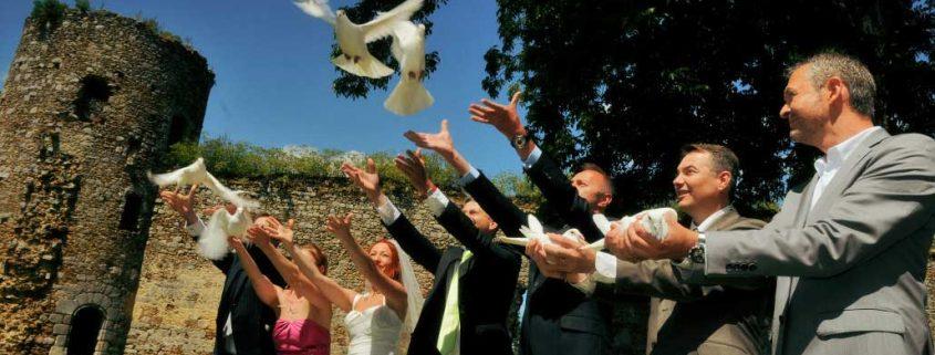 Lâchée de colombes mariage