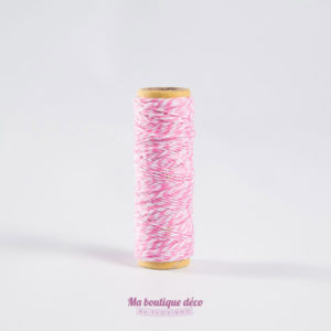 bakers twine rose et blanc