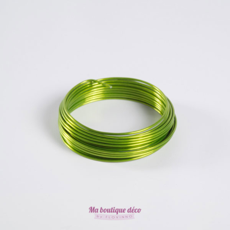 fil en aluminium vert