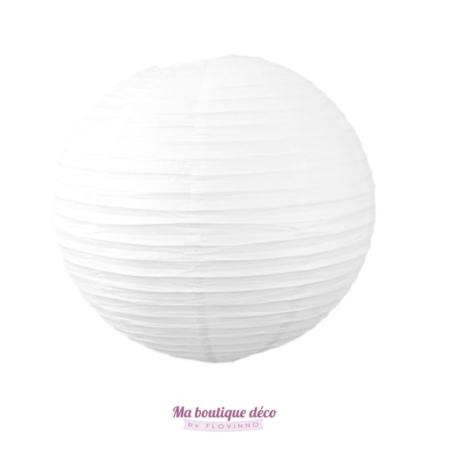 lanterne boule papier blanc
