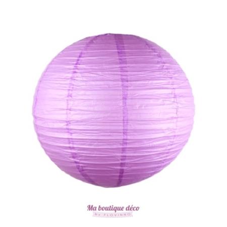 lanterne boule papier parme