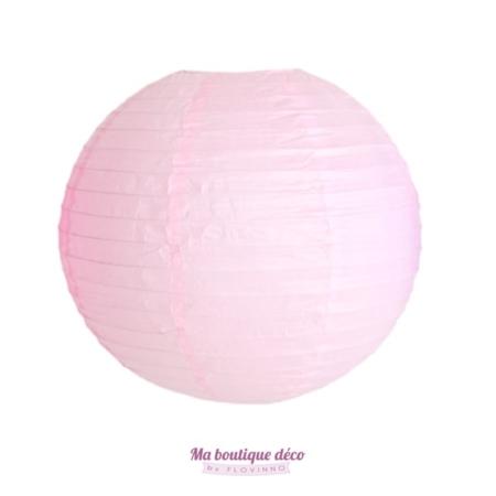 lanterne boule papier rose pale