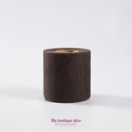 rouleau de tulle chocolat