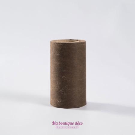 ruban large intissé chocolat