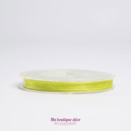 ruban organza vert anis