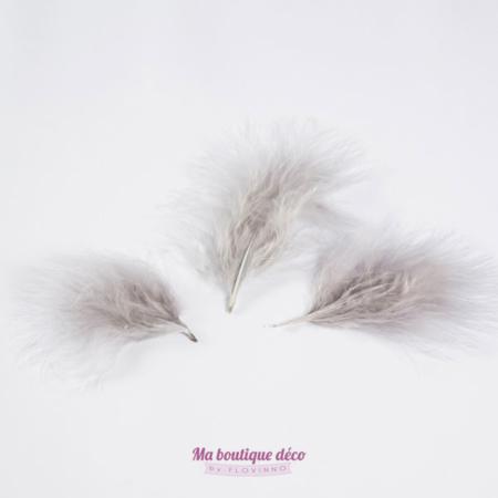 sachet plumes grises