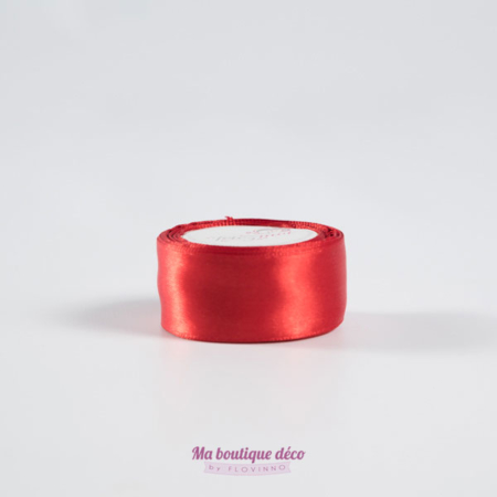ruban satin 25mm rouge