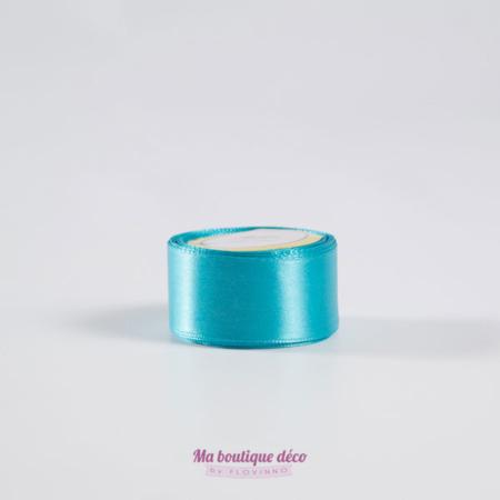 ruban satin turquoise