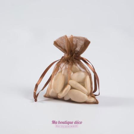sacs en organza chocolat