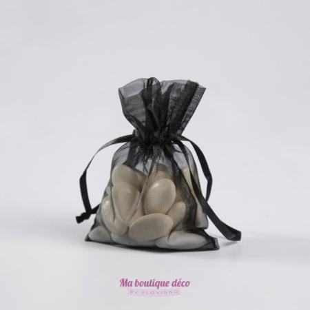 sac en organza noir