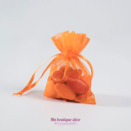 sacs en organza orange
