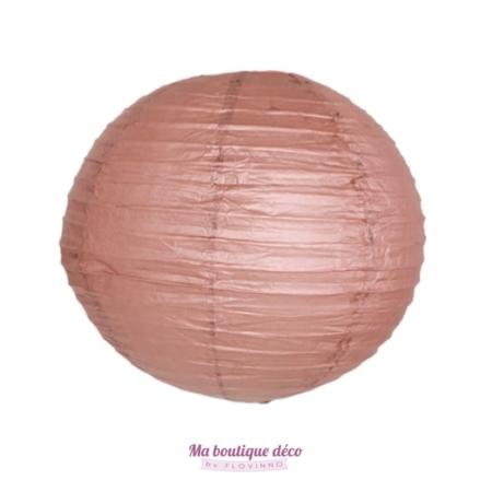 lanterne boule papier chocolat