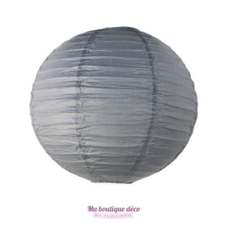 lanterne boule papier gris
