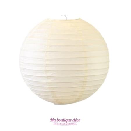 lanterne boule papier ivoire
