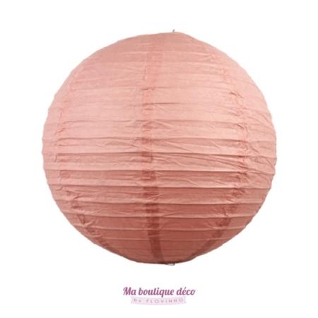 lanterne boule en papier rose blush