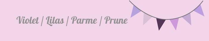 Violet / Lilas / Parme / Prune