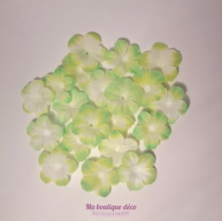 fleurs à jeter vert anis