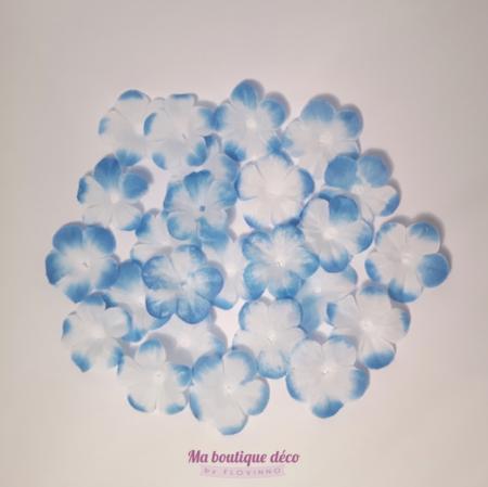 fleurs à jeter bleues