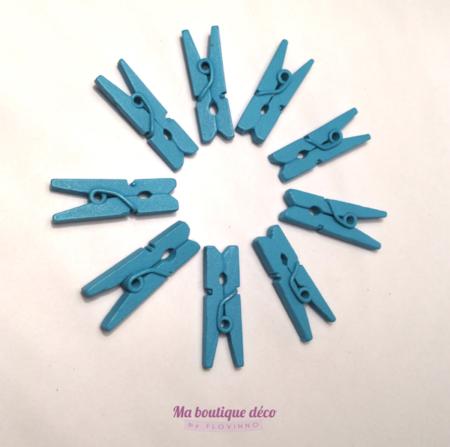 Mini pinces à linge turquoises
