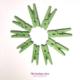 mini pinces à linge vert anis by Flovinno