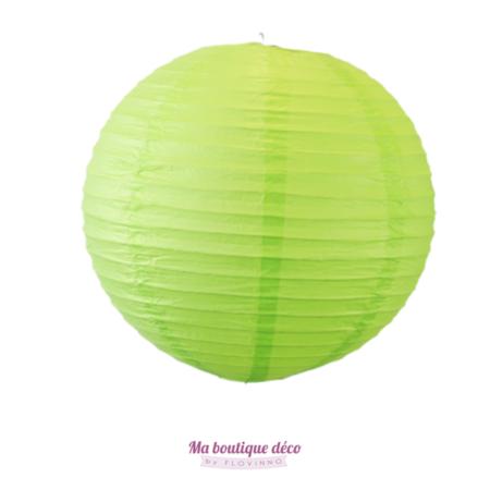 lanterne boule en papier vert anis