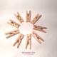 mini pinces à linge bois naturel