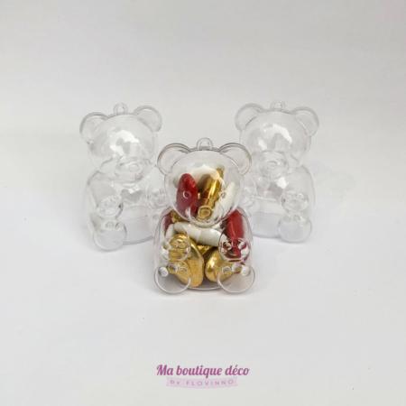 Boîtes à dragées ourson en plexi by Flovinno