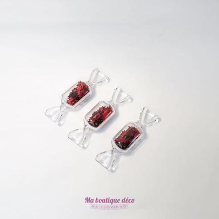 bonbons transparents porte-couteau rouges