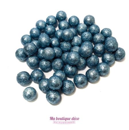 boules pailletées bleues by Flovinno