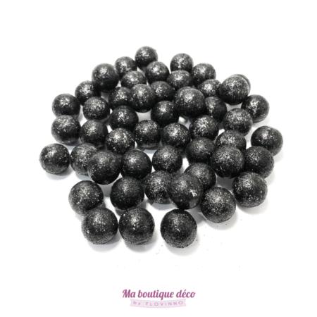 boules pailletées noires by Flovinno