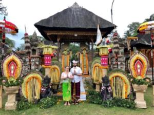 Bénédiction nuptiale à Bali